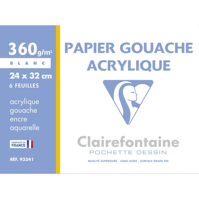 Clairefontaine-Painting-Paper-Gouache-Acrylic-360g-24x32-cm-Pouch-6-Sheets