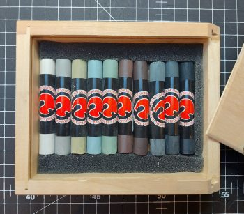 Russian Soft Pastels in Wooden Box