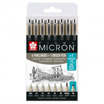 pigma micron fineliners black
