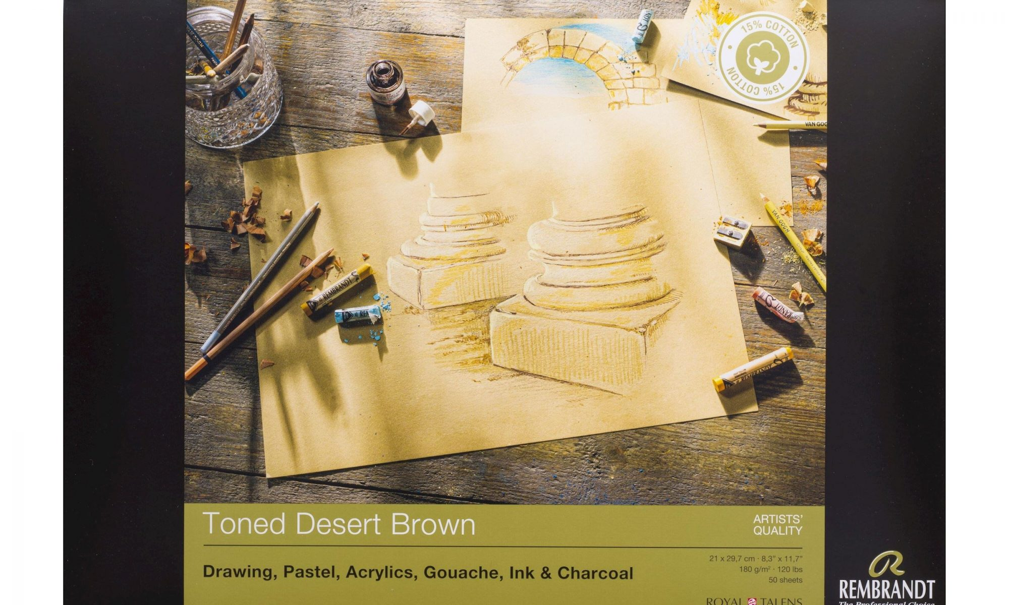 toned desert brown paper