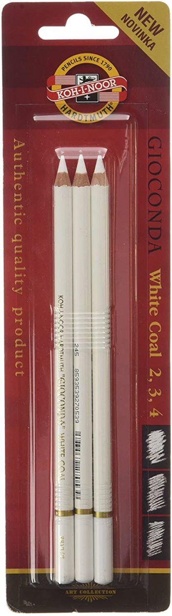 kohinoor-gioconda white charcoal pencils