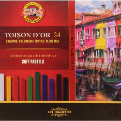 Koh-I-Noor : Toison d'Or : Square Soft Pastels : Set of 24